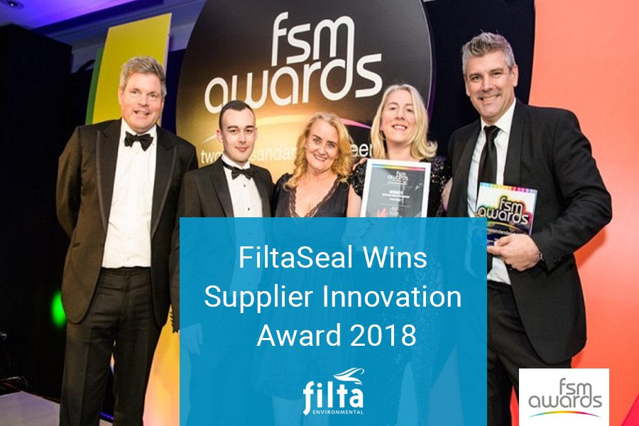 FiltaSeal Wins Supplier Innovation Award 2018 - Filta