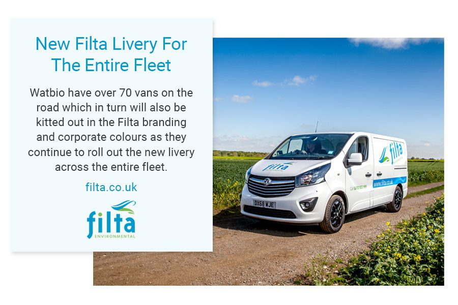 New Filta Livery - Filta Environmental Fleet Vans - UK