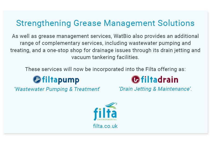 Strengthening Grease Management Solutions - filtapump - filtadrain - UK