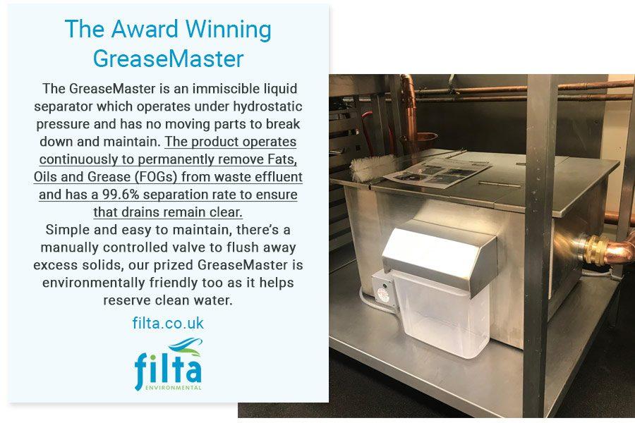 Award Winning GreaseMaster - Filta Environmental - UK