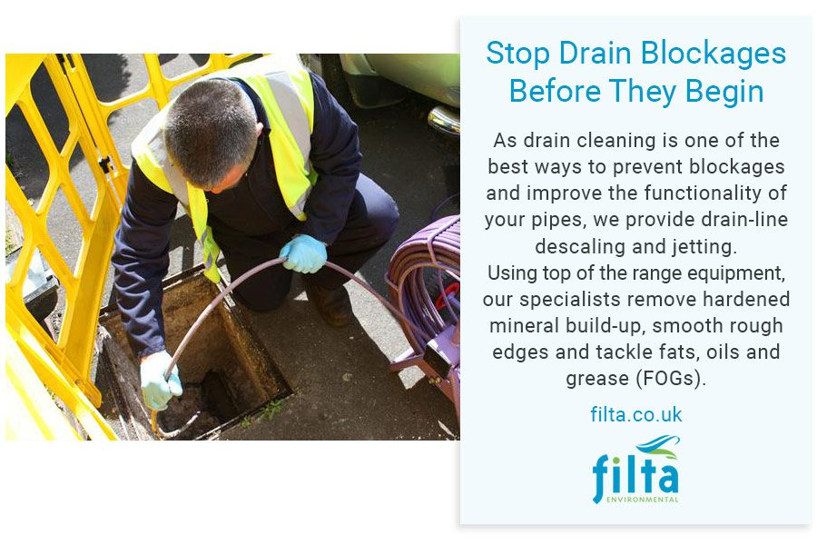 Stop Drain Blockages - Filta Environmental - UK