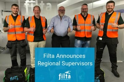Filta Announces Regional Supervisors - Grease - Oil Management - UK