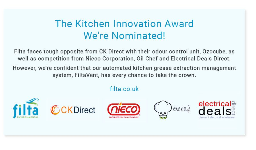 The Kitchen Innovation Award 2019 - FiltaVent - Filta Environmental