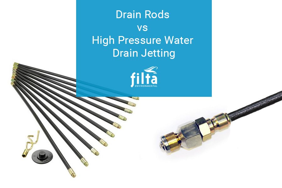 Drain Rods vs Drain Jetting - Drain Clearing UK - Filta Environmental