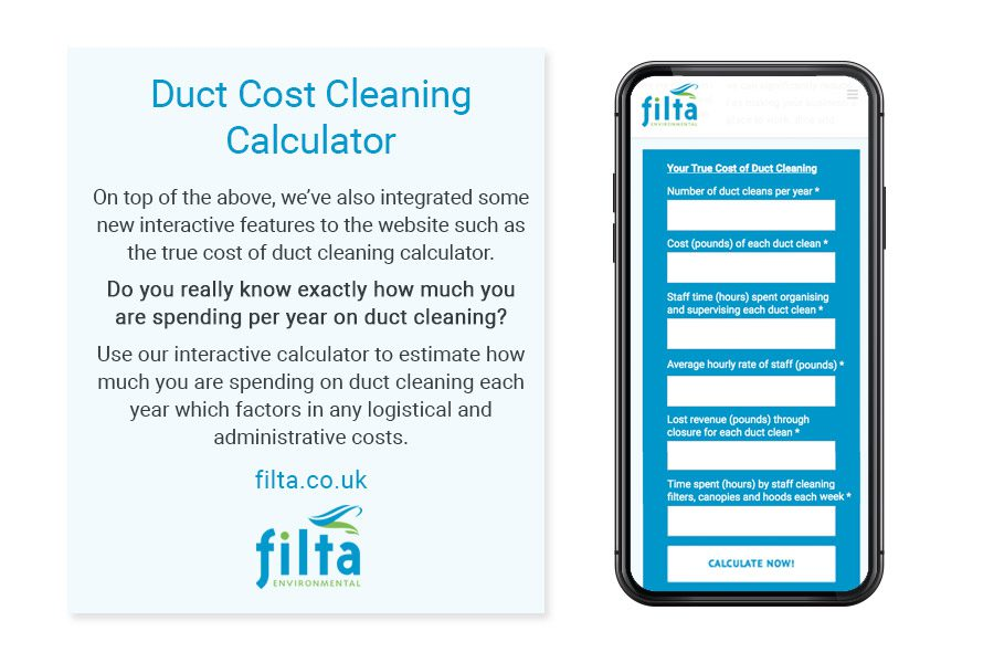 Duct Cost Cleaning Calculator - Filta Environmental UK