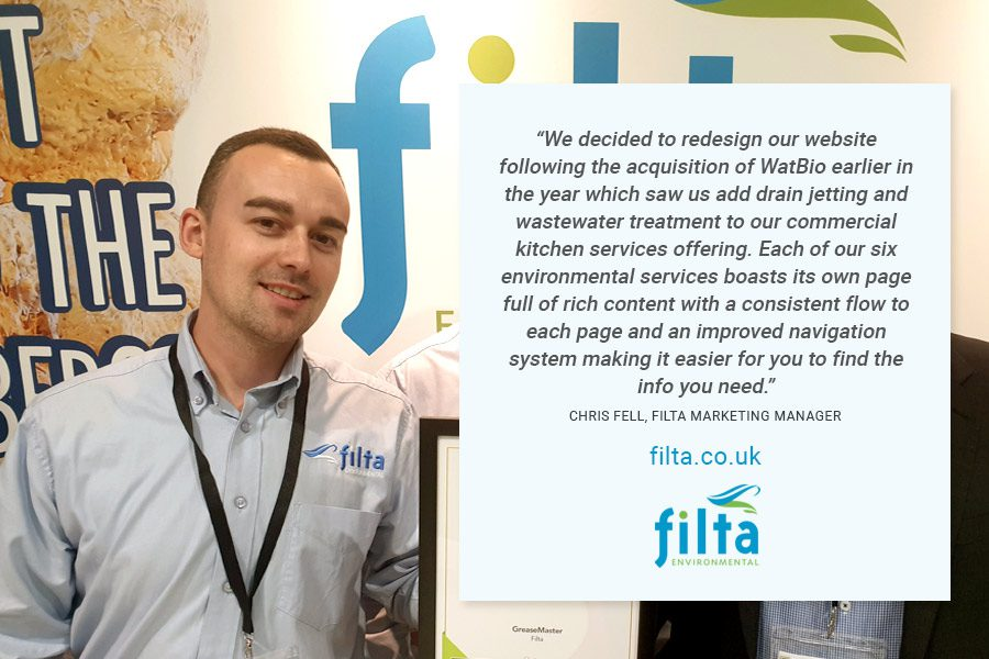 New Filta Environmental Website - Chris Fell Marketing Manager