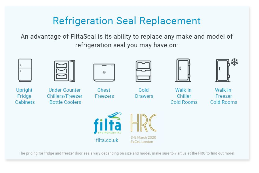 Refrigeration Seal Replacement at the Hotel Restaurant and Catering Show 2020 - Filta Environmental UK