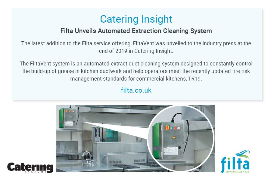 Automated Extraction Cleaning System - Filta Environmental - UK - Catering Insight