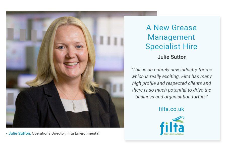 Julie Sutton - Grease Management Specialist - Filta Commercial Kitchen - UK