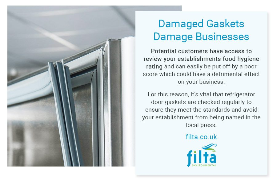 Damaged Fridge Door Gaskets - Professional Kitchens - Filta UK