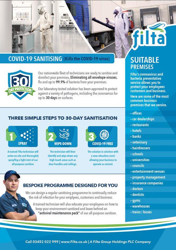 Filta Covid -19 Sanitising Service