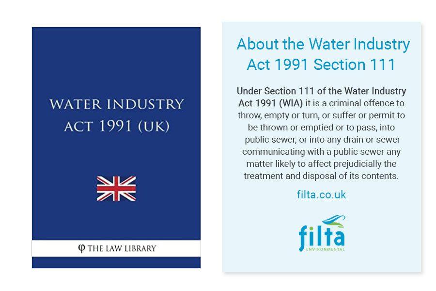 Water Industry Act 1991 - Secion 111 - Filta Environmental UK