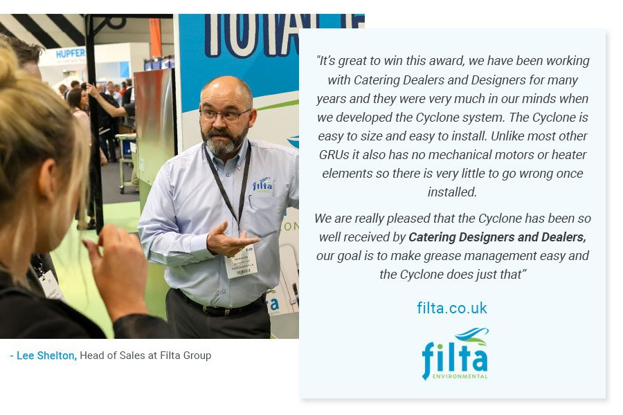 FOG Cyclone - Dealers Choice Catering Insight Awards - Lee Shelton Filta UK