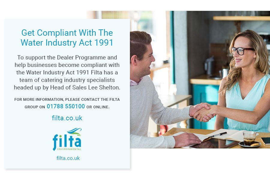 Get Compliant Water Industry Act 1991 - Catering Industry - Filta UK