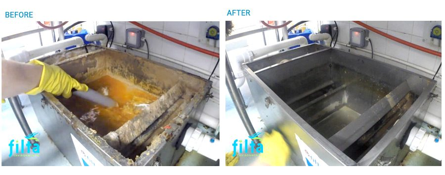 Grease Trap Cleaning Before and After - Filta Environmental UK