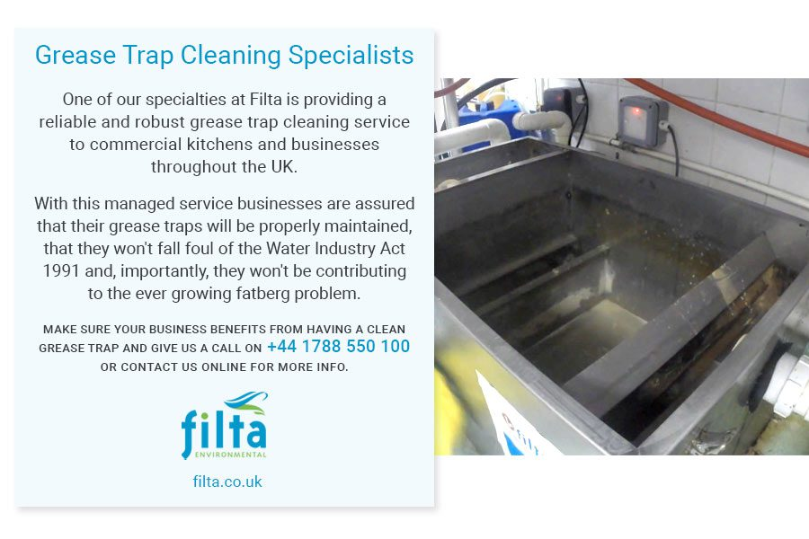 Grease Trap Cleaning Specialist - Filta Environmental UK