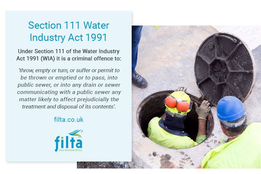 Section 111 Water Industry Act 1991 - Filta Environmental UK