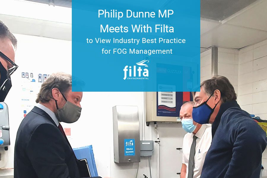 Philip Dunne MP at McDonalds - Filta FOG Management UK