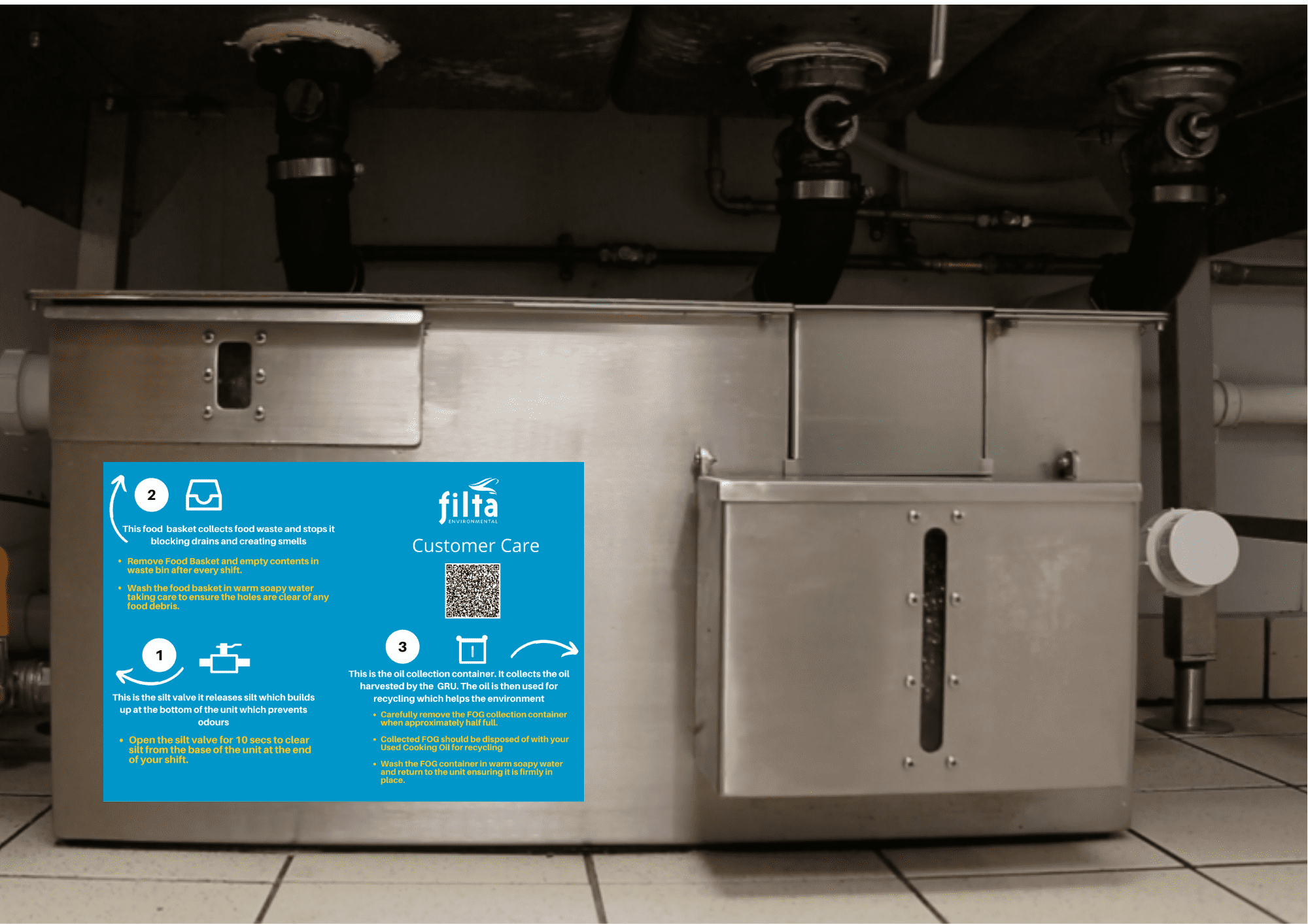 Fight Fatberg Commercial Kitchen - Grease Management Filta - UK