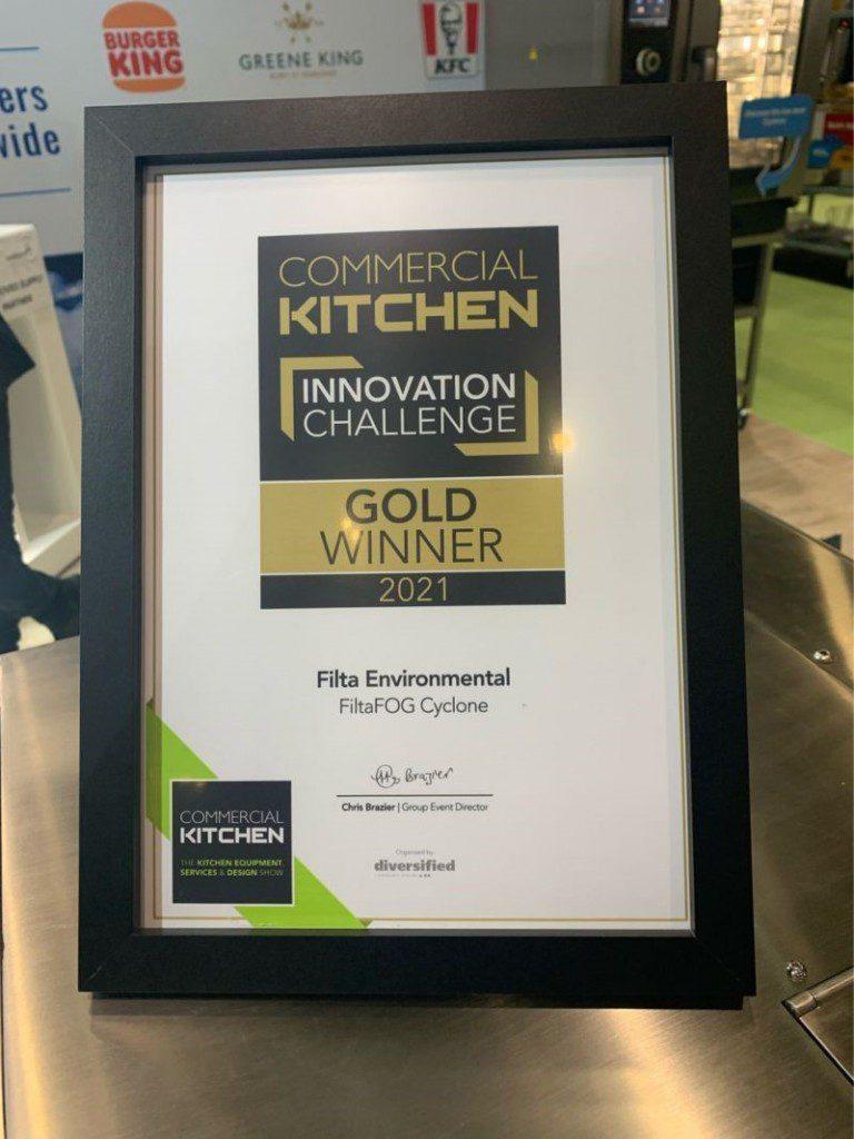 FiltaFOG Cyclone wins gold award
